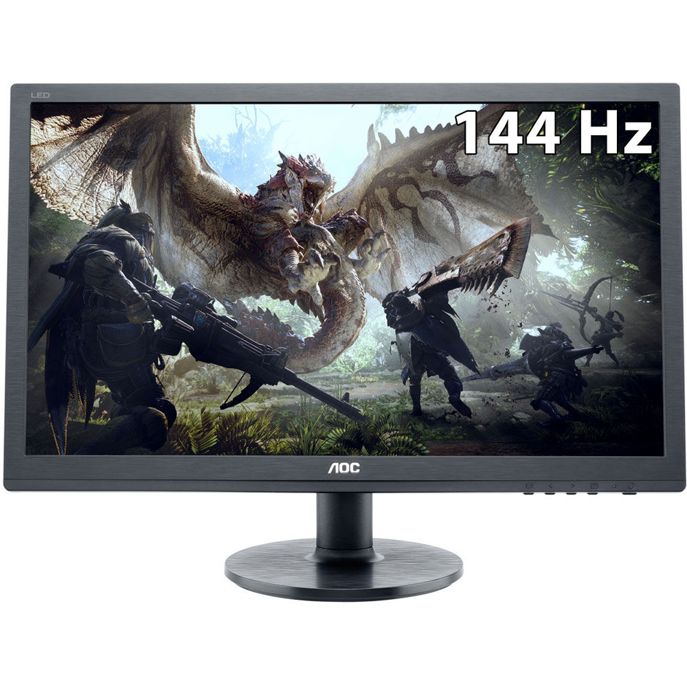 "Fotografie Monitor Gaming LED TN AOC 24"", Wide, FHD, 1ms, 144Hz, HDR10, FlickerFree, DisplayPort, HDMI, Negru, G2460FQ"