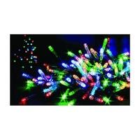 105 LED-es karácsonyfa izzósor, szines