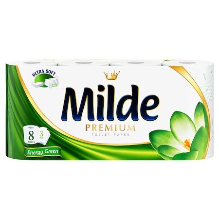 Тоалетна хартия Milde Energy Green, 3 пласта, 8 ролки
