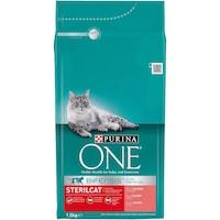 Суха храна за котки Purina One, Sterilcat, Сьомга, 1.5 кг