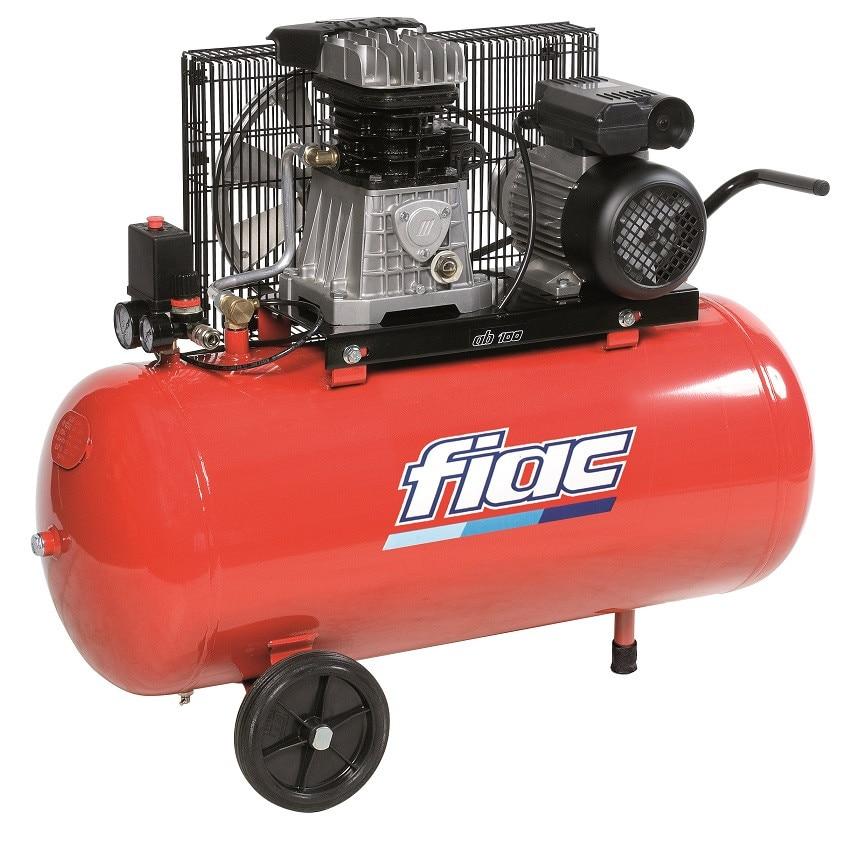 Fotografie Compresor trifazat FIAC NEW-AB100/350TC, 3 CP, 350 l/min debit aer, 100 l recipient, 10 bar presiune lucru