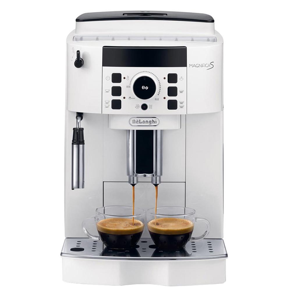 Fotografie Espressor Automat De'Longhi, ECAM 21.117 Wh, 1450W, 15 bar, Rasnita cafea integrata, Alb