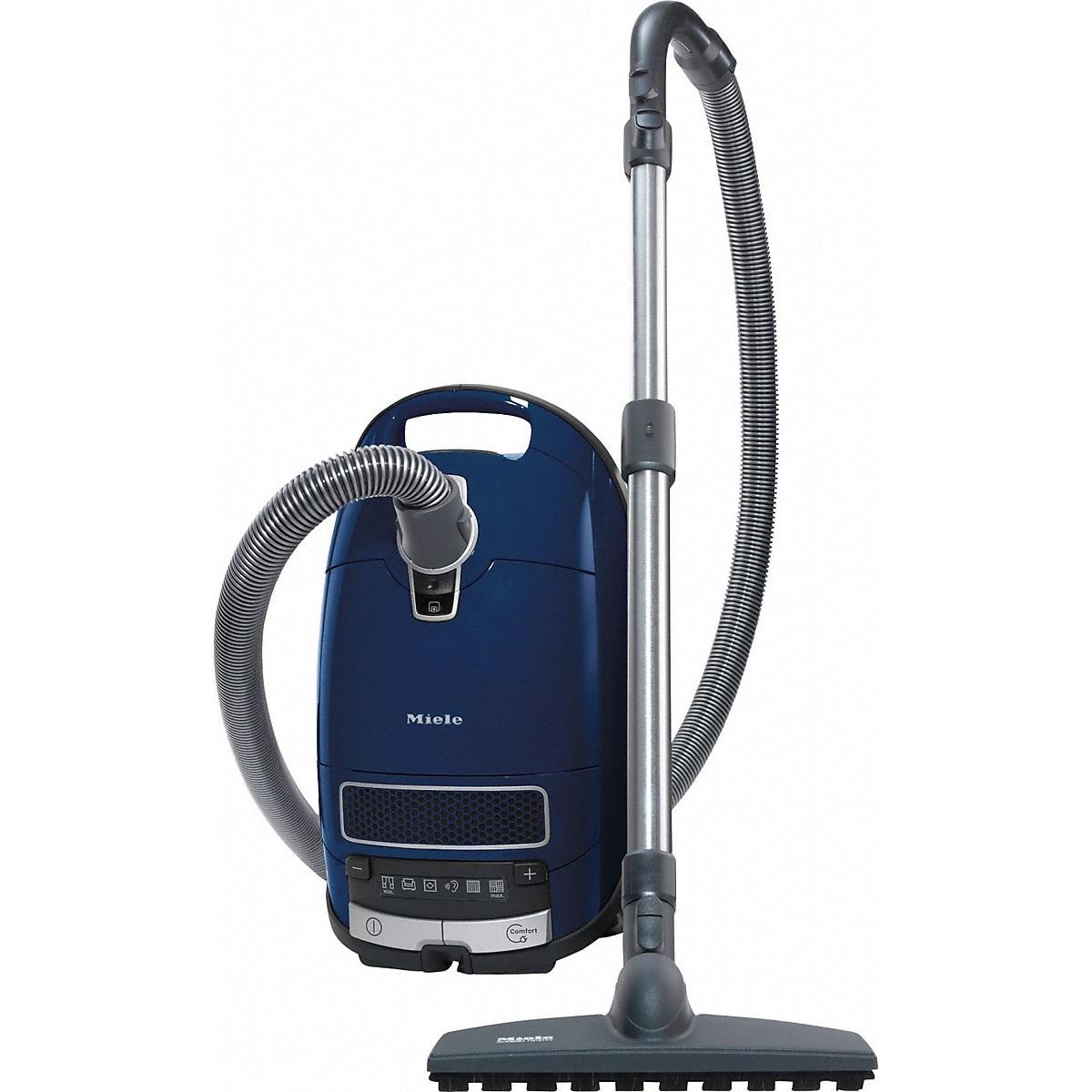 Fotografie Aspirator cu sac Miele Complete C3 Parquet PowerLine- SGSF3, 890 W, 4.5 L, Filtru AirClean +, Albastru