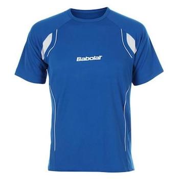 Детска тениска Babolat Club, синя, 128 см.
