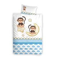 Бебебешко спално бельо PNG д.ч.100/150, пл.100/150, к.40/50 Маймунка