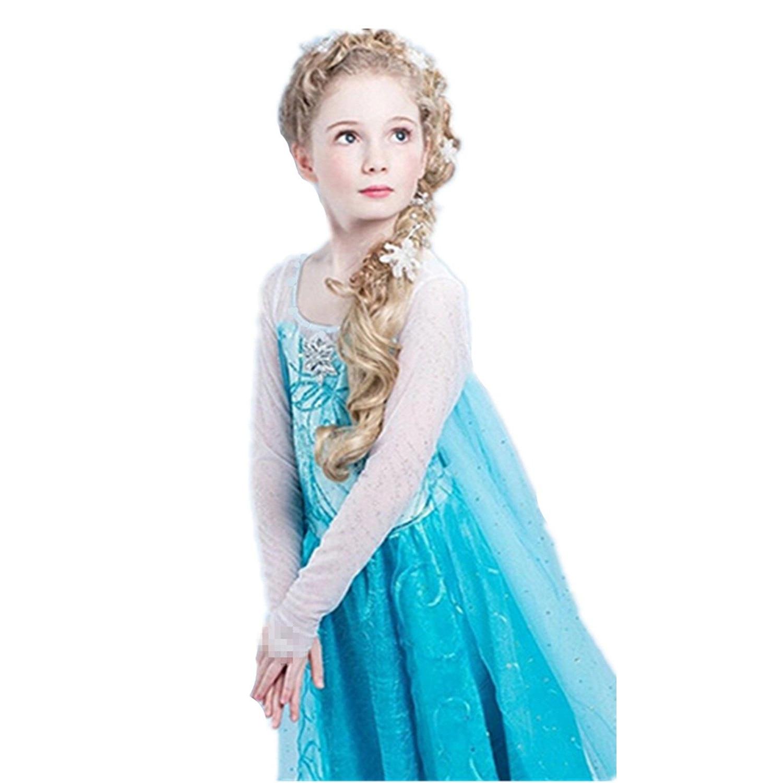 reducere cea mai mică vânzător en-gros preț atractiv Rochie de petrecere cu trena Elsa Frozen 6 - 7 ani - eMAG.ro