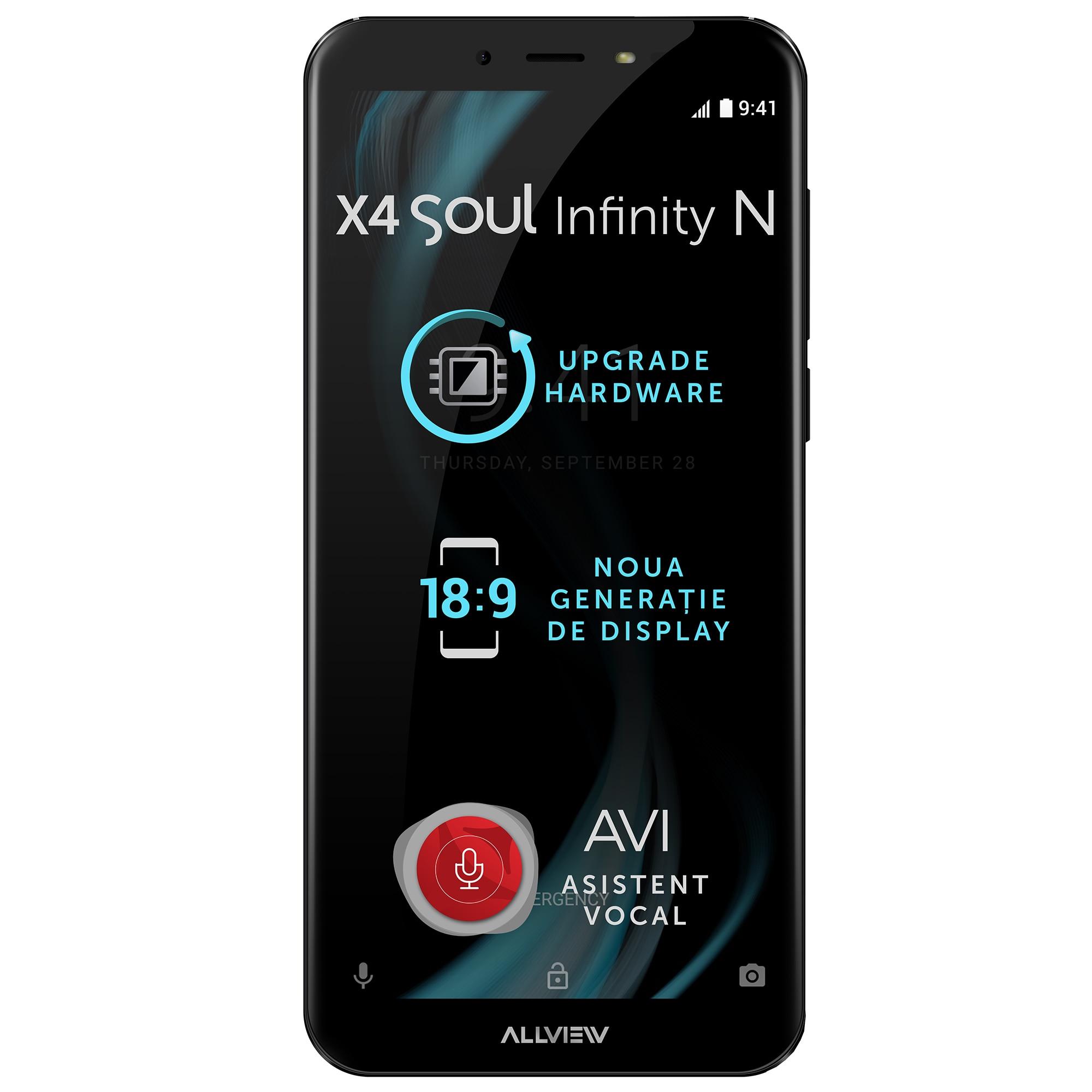 Fotografie Telefon mobil Allview X4 Soul Infinity N, Dual SIM, 32GB, 4G, Night Sky