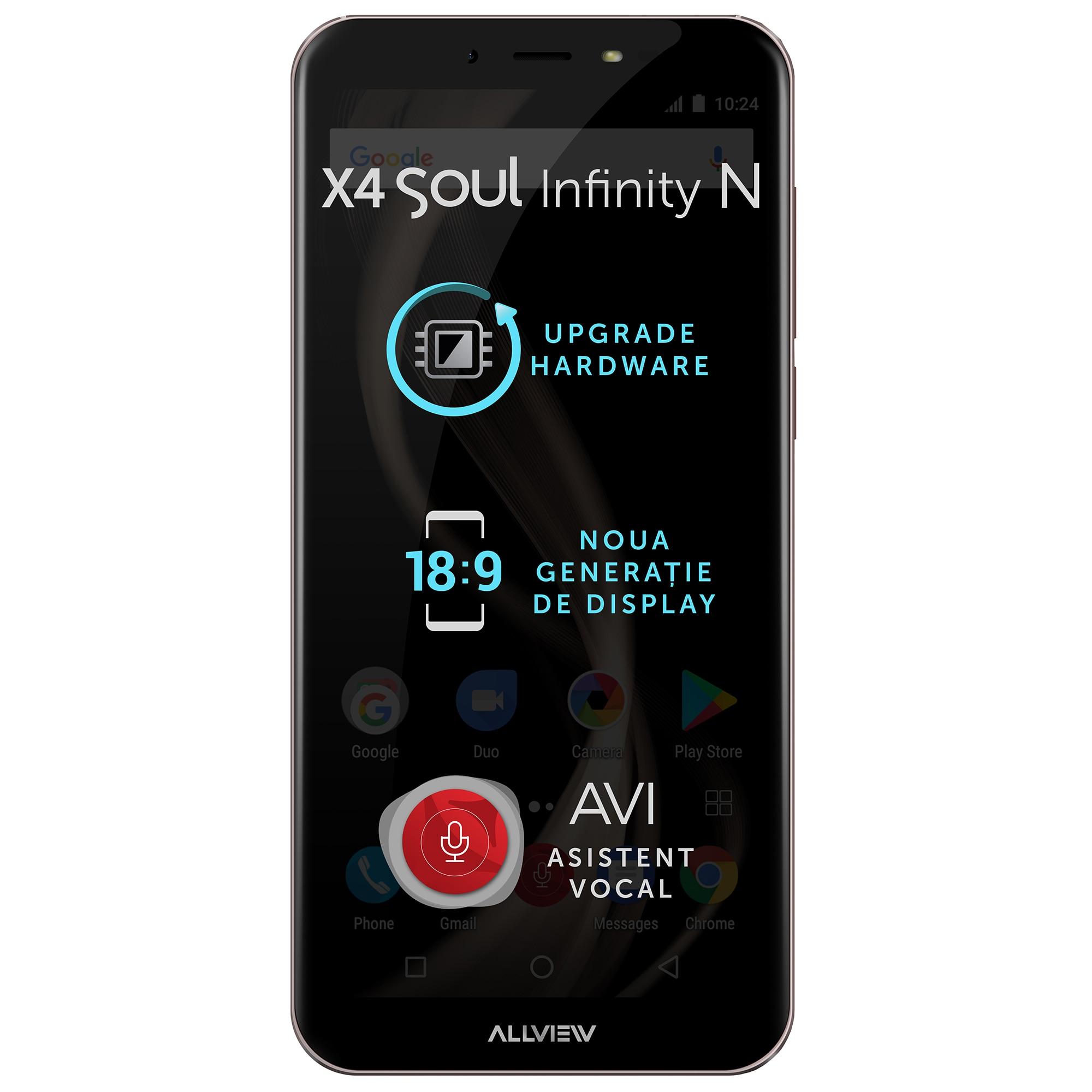Fotografie Telefon mobil Allview X4 Soul Infinity N, Dual SIM, 32GB, 4G, Mocca Gold