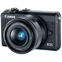 Фотоапарат Mirrorless Canon EOS M100, 24.2 MP, Black + Обектив 15-45 мм