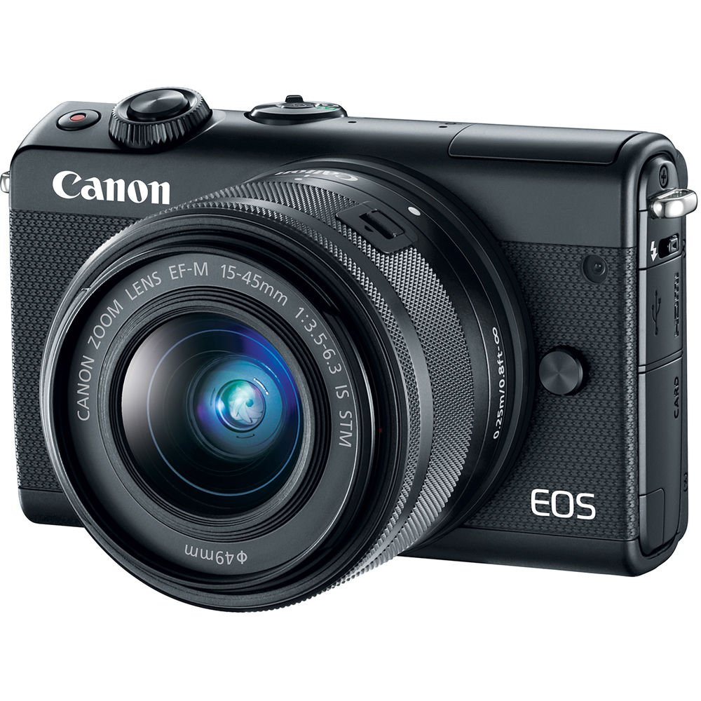 Fotografie Aparat foto Mirrorless Canon EOS M100, 24.2 MP, Black + Obiectiv 15-45 mm