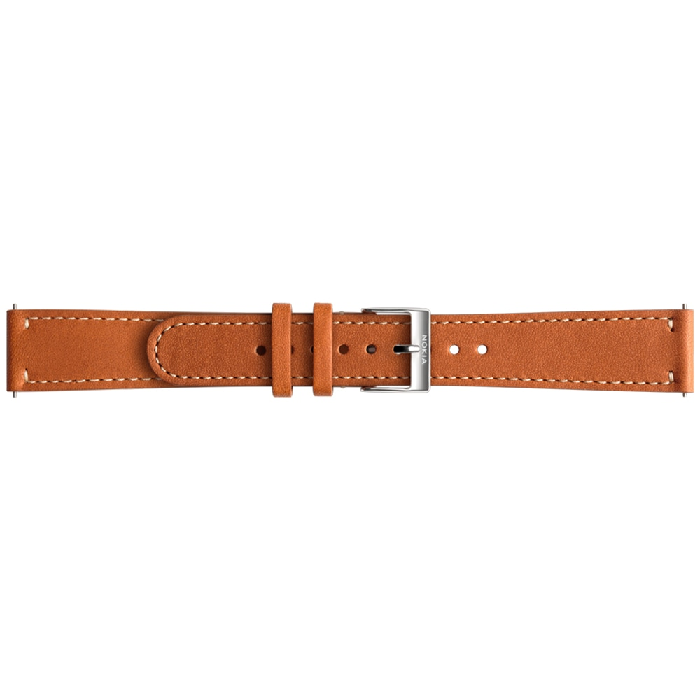 Fotografie Curea ceas smartwatch compatibila cu Withings Activite Steel/Steel HR 36mm, Piele 18mm, Brown
