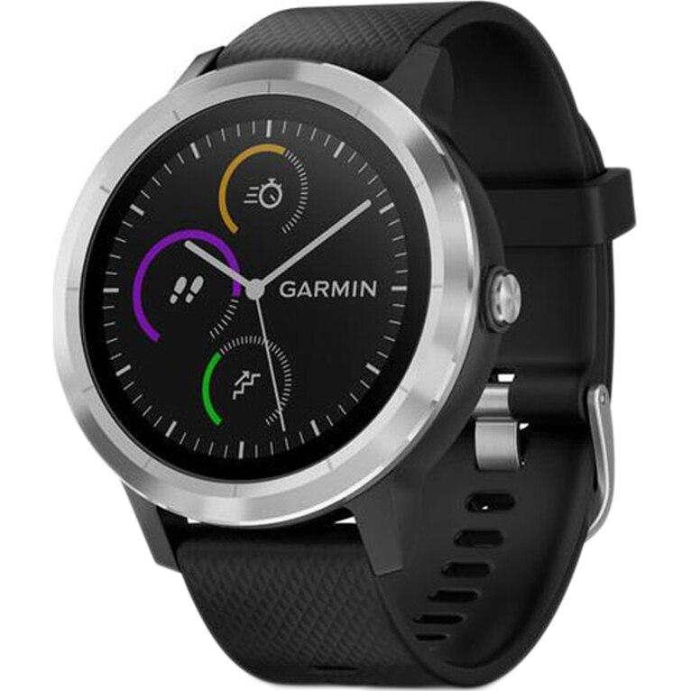 Fotografie Ceas smartwatch Garmin Vivoactive 3, HR, GPS, Silver, Silicone Black