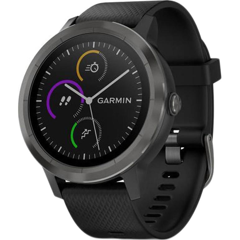 Fotografie Ceas smartwatch Garmin Vivoactive 3, HR, GPS, Slate, Silicone Black