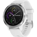 Часовник Smartwatch Garmin Vivoactive 3, HR, GPS, Silver, Silicone White