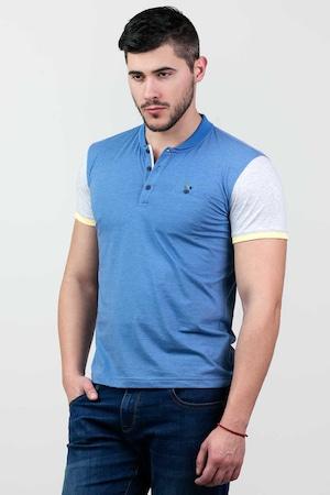 Мъжка тениска STYLER, модел 76112, Син, размер 3XL