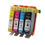 655XL Set 4 cartuse Compatibile HP 655XL pentru HP Deskjet Ink Advantage 3525, CZ109AE, CZ110AE, CZ111AE, CZ112AE - (BK + C+ M + Y)