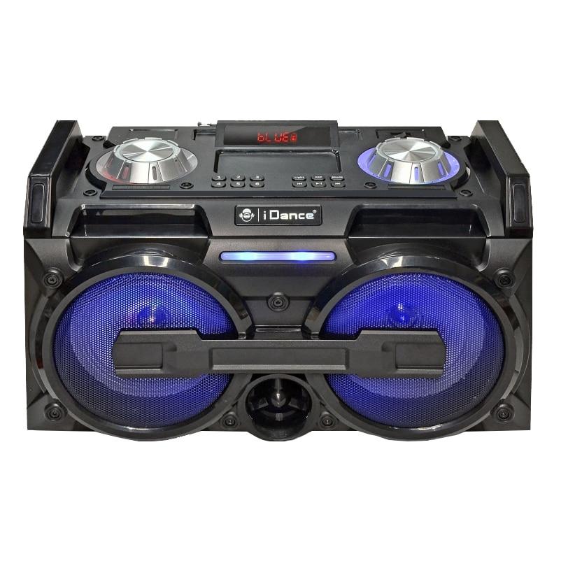 Fotografie Boxa portabila iDance XD15Mk2, karaoke, Bluetooth, 100W, mixer incorporat cu efect Echo, joc de lumini, USB, AUX