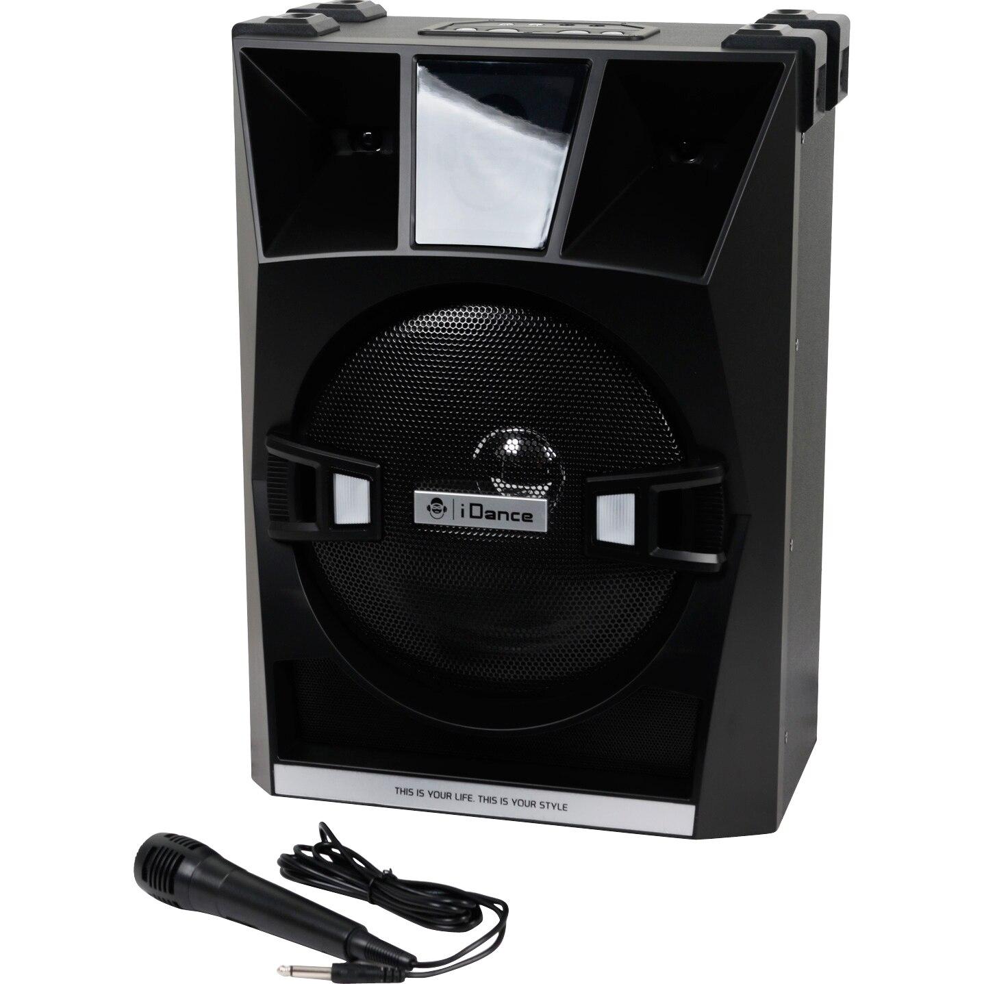 Fotografie Sistem 2 in 1 iDance XD30 A v2, karaoke& DJ, 200W, Bluetooth, mixer incorporat cu efect Echo, joc de lumini, USB, aplicatie IOS si Android