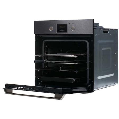 Cuptor incorporabil Hansa Scandium BOEI69472, Electric, 65 l, Autocuratare catalitica, Grill, Rotisor, Display, Clasa A, Inox