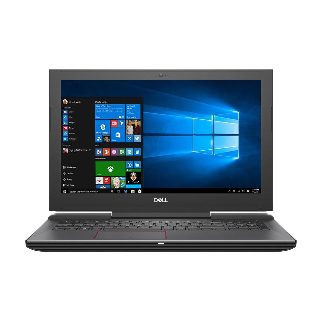 "Fotografie Laptop Gaming Dell Inspiron 7577 cu procesor Intel® Core™ i5-7300HQ pana la 3.50 GHz, Kaby Lake, 15.6"", Full HD, 8GB, 1TB + 8GB SSH, nVIDIA GeForce GTX 1050 4GB, Microsoft Windows 10, Black"