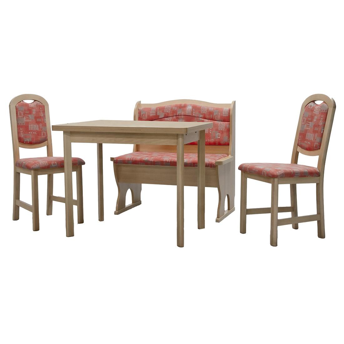 Fotografie Masa cu bancheta si 2 scaune Oslo Cretone Elvila, 145x113xH85 cm, PAL