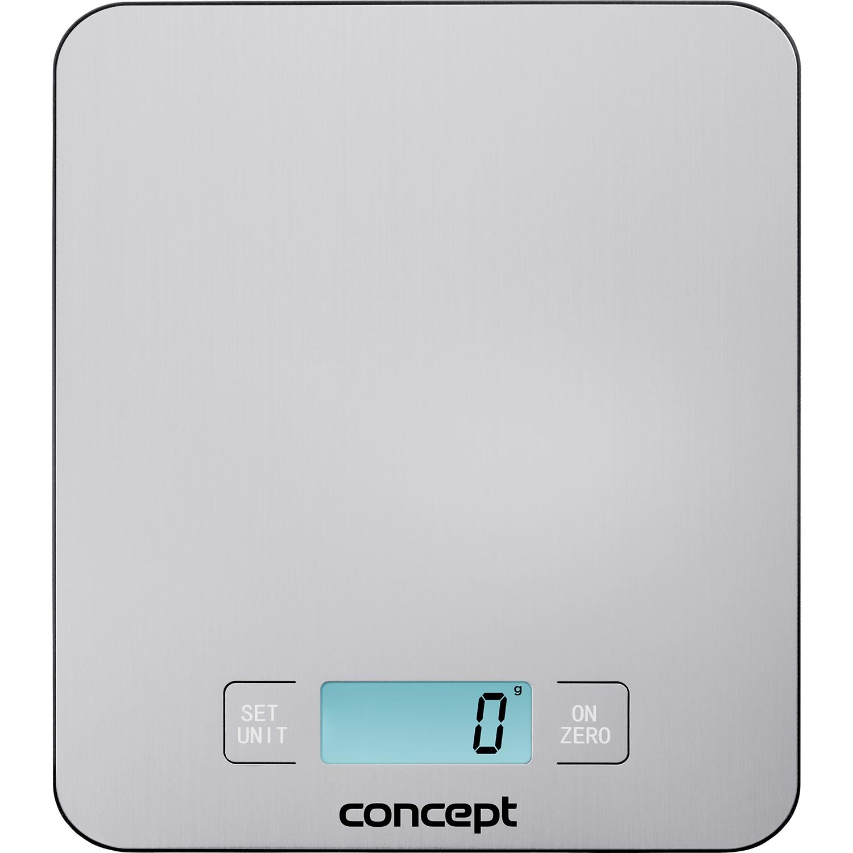 Fotografie Cantar de bucatarie Concept VK5710, display digital, 15 kg, Argintiu
