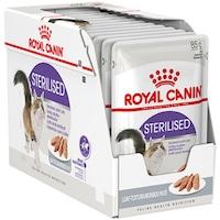 Мокра храна за котки Royal Canin, Sterilised, Pate, 12 броя x 85 гр
