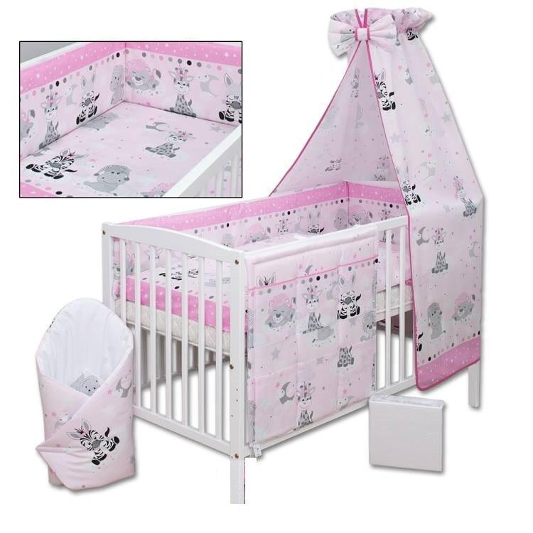 4 részes babaágynemű rózsaszín párnás maci Baby Shop