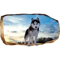 Startonight 3D Fotótapéta Husky, világít a sötétben, 220 x 120 cm