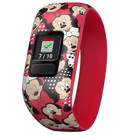Фитнес гривна Garmin Vivofit Jr. 2, Еластична гривна, Minnie Mouse