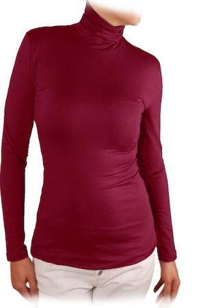Дамска блуза Ivanel ПОЛО, Дълъг ръкав, Бордо, Бордо