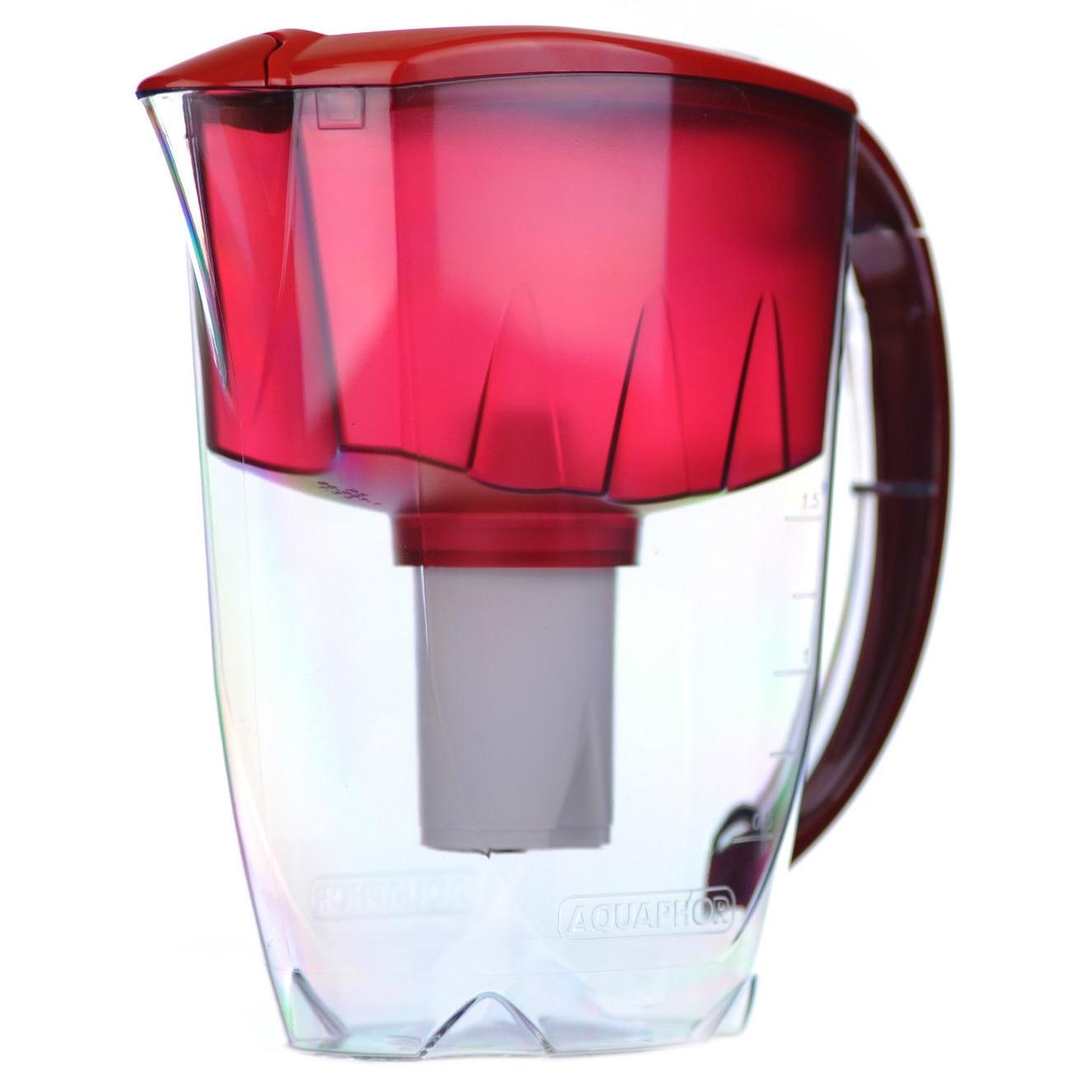 Fotografie Cana de filtrare Aquaphor, model Ideal, Visiniu