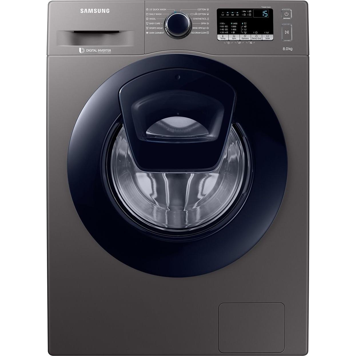 Fotografie Masina de spalat rufe Samsung Add Wash WW80K44305X/LE, 8 kg, 1400 RPM, Clasa A+++, Motor Digital Inverter, Display LED, Smart Check, Inox