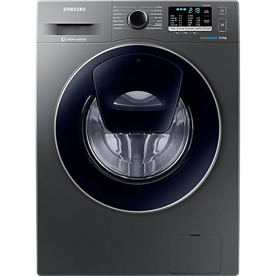 Fotografie Masina de spalat rufe Samsung Add Wash WW90K5410UX/LE, 9 kg, 1400 RPM, Clasa A+++, Motor Digital Inverter, EcoBubble, Display LED, Smart Check, Inox