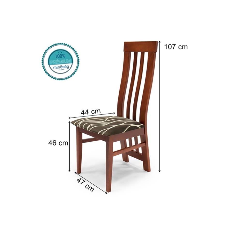 Lara szék ( Hullámmintás kárpit Calvados váz )