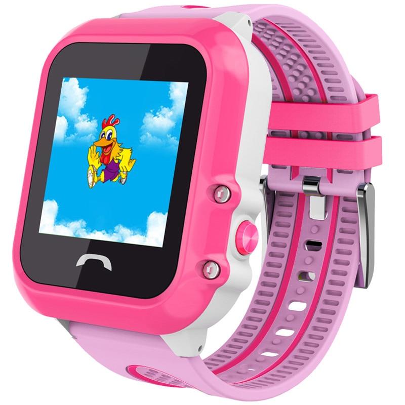 Fotografie Ceas smartwatch copii iUni Kid27, Telefon incorporat, GPS, Bluetooth, Roz