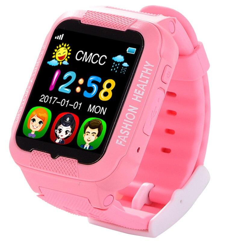 Fotografie Ceas smartwatch copii iUni Kid3, Telefon incorporat, GPS, Bluetooth, Roz