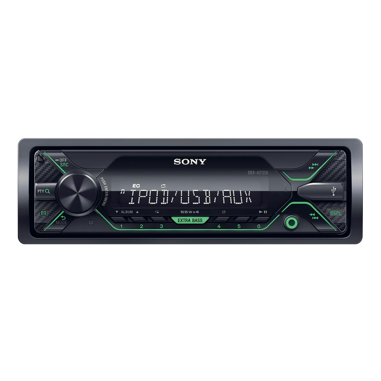 Fotografie Radio MP3 Player auto Sony DSXA212UI, 4 x 55 W, USB, AUX, Verde