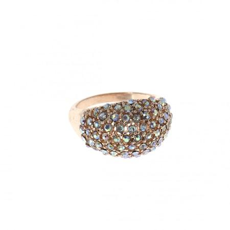Szivárvány strassz gömbgyűrű 18 mm