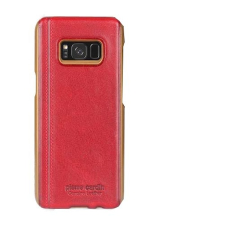 PIERRE CARDIN Mûanyag védõ tok,SAMSUNG SM-G950 Galaxy S8,Piros