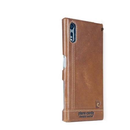PIERRE CARDIN Mûanyag védõ tok,Sony Xperia XZ (F8331) / Sony Xperia XZ Dual (F8332) / SONY Xperia XZs (G8231 / G8232),Barna
