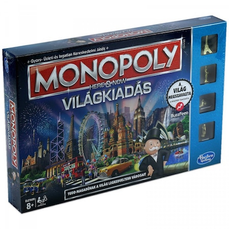 Monopoly: Itt És Most - Világkiadás (Hasbro, B2348)