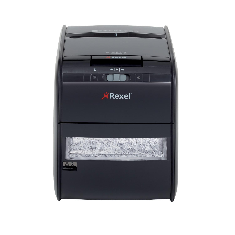 Fotografie Distrugator automat documente REXEL AUTO+ 60X, 60 coli, P3, cross-cut (confeti)