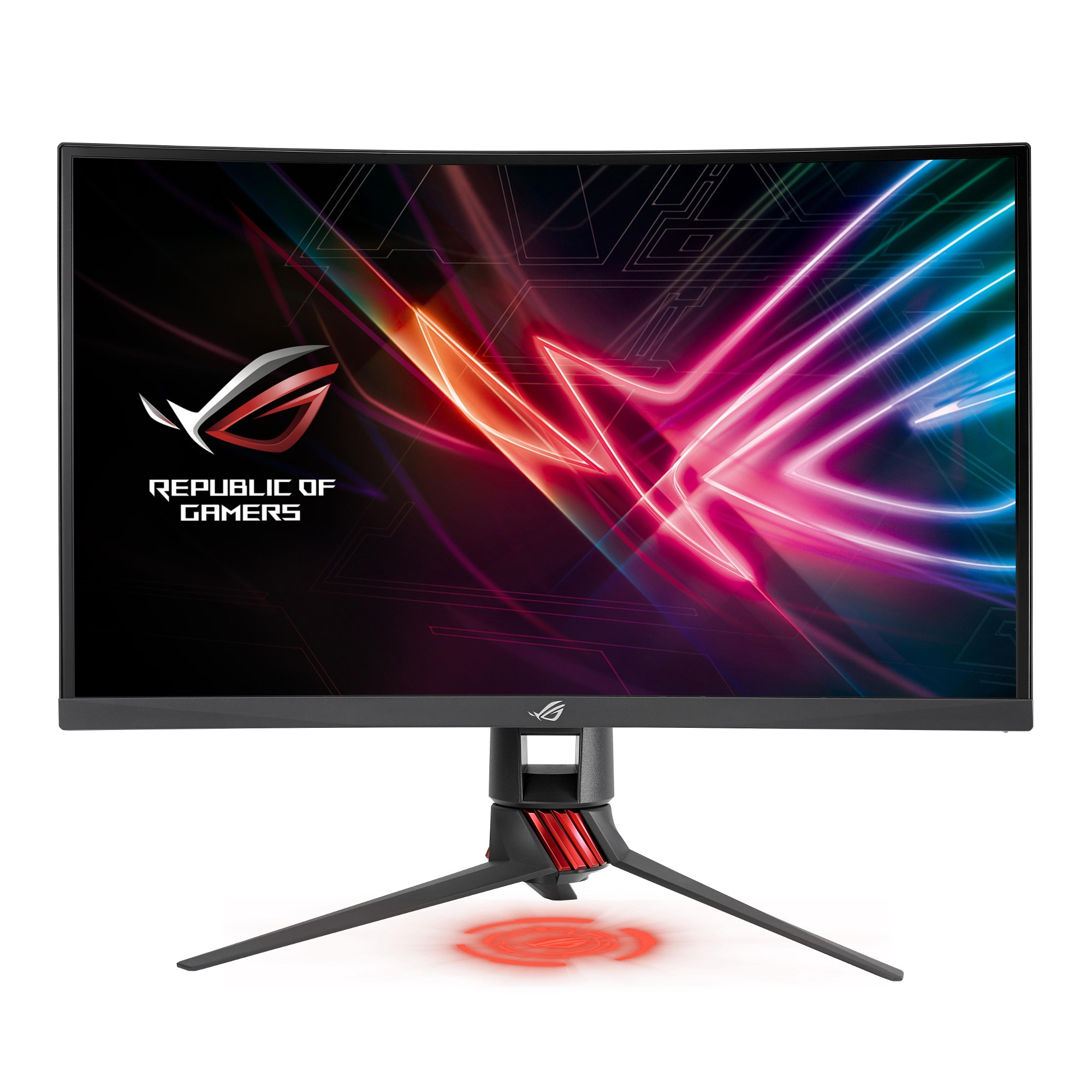 "Fotografie Monitor gaming LED VA Asus ROG Strix curbat 27"", Full HD, DVI-D, HDMI, Display Port, FreeSync™, 144HZ, Negru, XG27VQ"