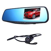 Dupla autós DVR kamera (elől, hátul) ,visszapillantó tükörrel, fullHD, G szenzor
