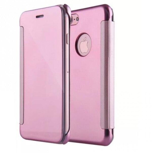 Fotografie Husa de protectie Tellur Mirror PU leather pentru Apple iPhone 8 / iPhone 7, Roz