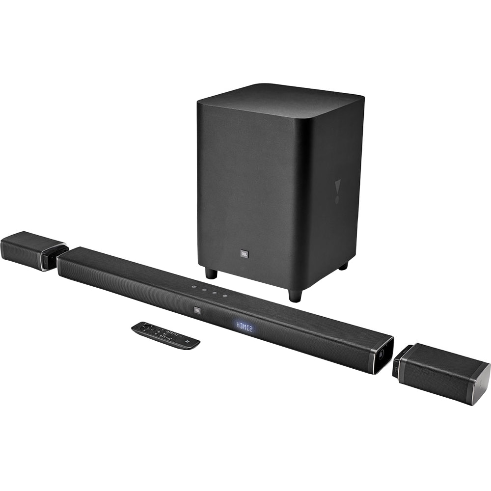 Fotografie Soundbar JBL BAR 5.1, 510W, bluetooth, sateliti spate wireless, subwoofer wireless, Negru