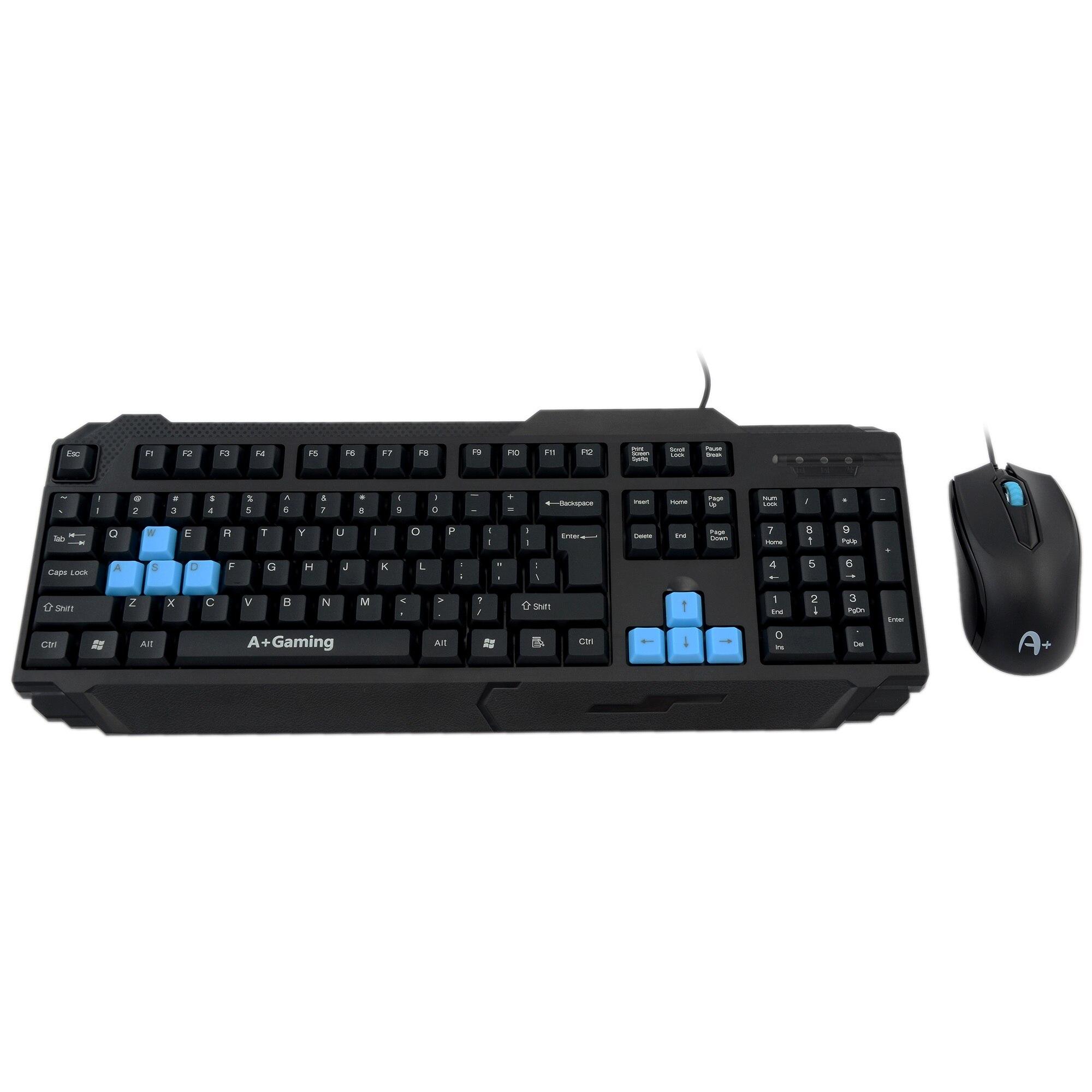 Fotografie Kit tastatura + Mouse A+ K1 Kandaon, Negru