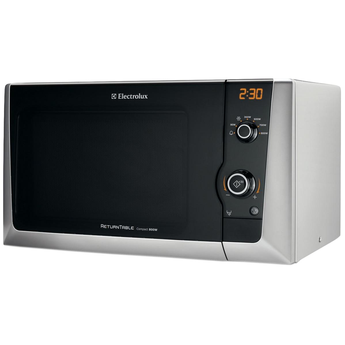 Fotografie Cuptor cu microunde Electrolux EMS21400S, 18 l, 800 W, Grill, Mecanic, Silver